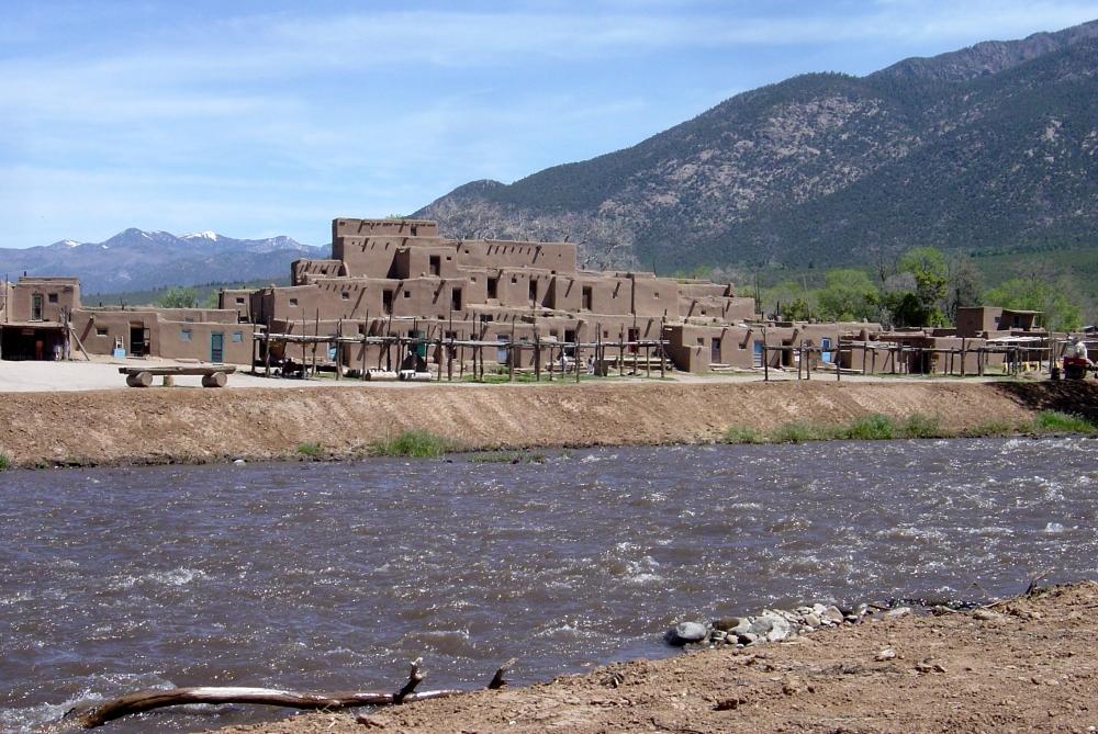Taos Pueblo with Rio Pueblo in foreground.jpg