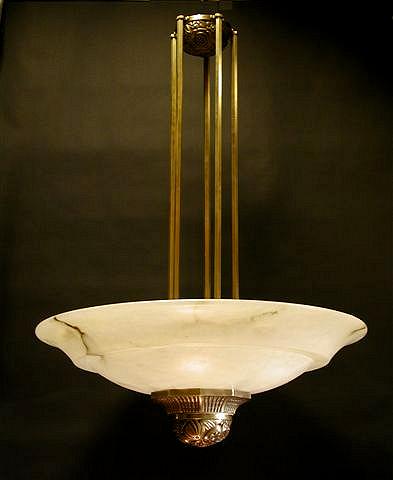 Bronze and Alabaster - Chandelier - French - c 1930 - Elements of Design - Peter Crawford.jpg