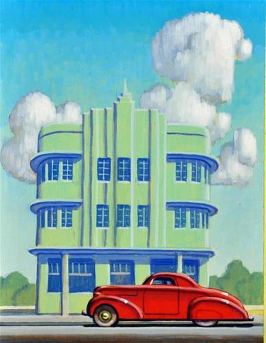 Daily Paintworks - Miami Deco - Original Fine Art for Sale.jpg