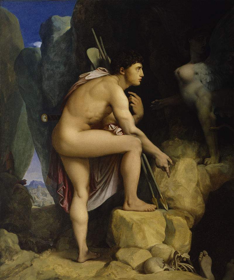 800px-Jean-Auguste-Dominique_Ingres_-_Oedipus_and_the_Sphinx_-_Walters_379.jpg