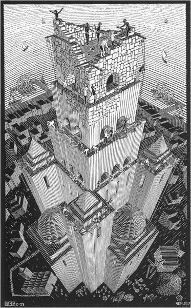 Вавилонская_башня_(Эшер)