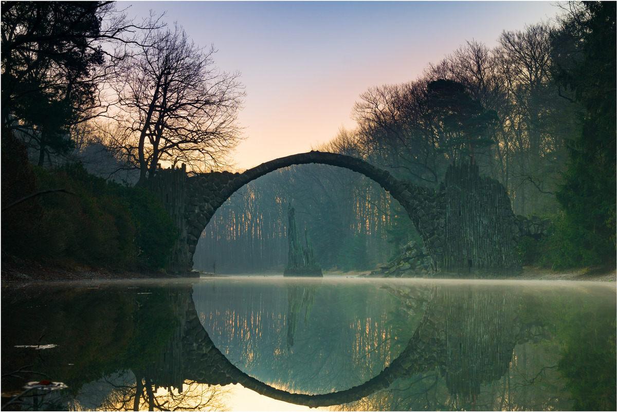 Rakotzbrücke Devil's Bridge. This jaw-dropping 19th-century bridge uses its reflection to form a perfect circle.jpg