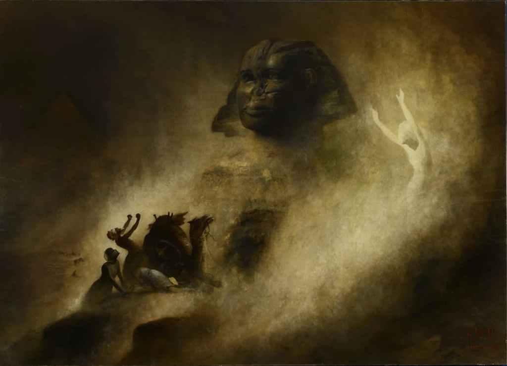 Це зображення має порожній атрибут alt; це ім'я файлу karl-wilhelm-diefenbach-the-great-sphinx-of-giza-1903.jpg